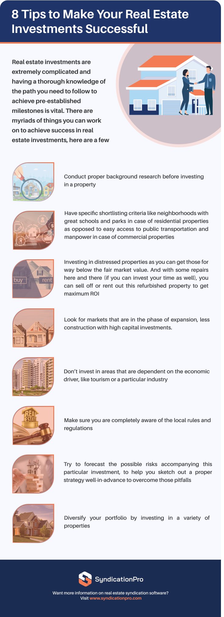 8 Tips to Make Your Real Estate Investments Successful - Infographic